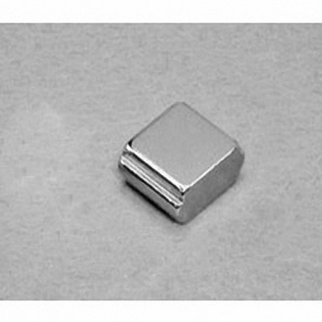"""SB884-OUT Neodymium Block Magnet, 1/2"""" length x 1/2"""" width x 1/4"""" thick , with step OUT"""