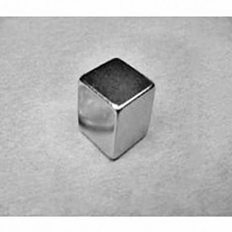 """B888 Neodymium Block Magnet, 1/2"""" x 1/2"""" x 1/2"""" thick"""