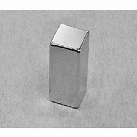 """B88X0 Neodymium Block Magnet, 1/2"""" x 1/2"""" x 1"""" thick"""