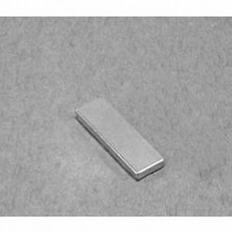 """BC14-N52 Neodymium Block Magnet, 3/4"""" x 1/16"""" x 1/4"""" thick"""