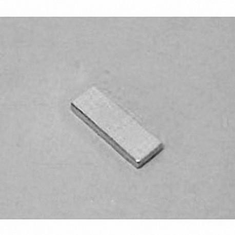 """BC41 Neodymium Block Magnet, 3/4"""" x 1/4"""" x 1/16"""" thick"""