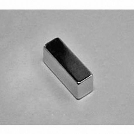 """BC44 Neodymium Block Magnet, 3/4"""" x 1/4"""" x 1/4"""" thick"""