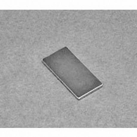 """BC601 Neodymium Block Magnet, 3/4"""" x 3/8"""" x 1/32"""" thick"""
