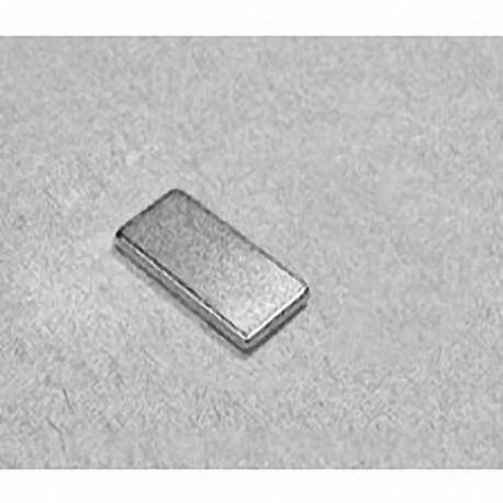 """BC61 Neodymium Block Magnet, 3/4"""" x 3/8"""" x 1/16"""" thick"""
