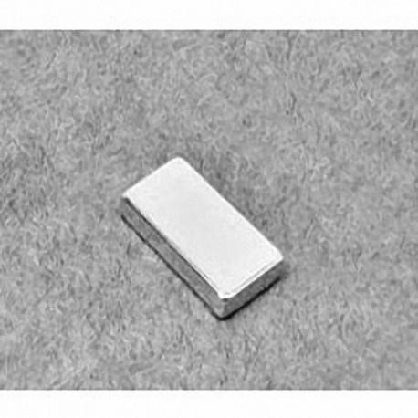 """BC62 Neodymium Block Magnet, 3/4"""" x 3/8"""" x 1/8"""" thick"""
