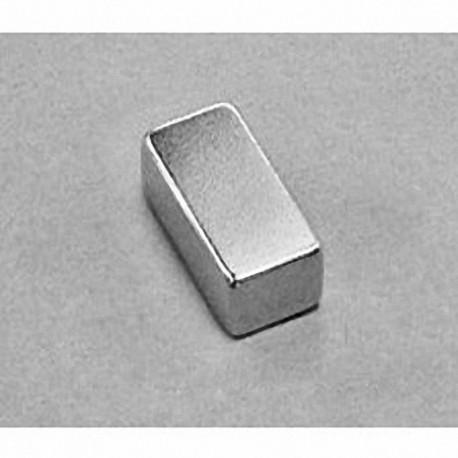 """BC64 Neodymium Block Magnet, 3/4"""" x 3/8"""" x 1/4"""" thick"""