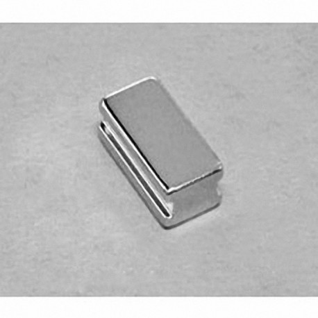 """SB6C4-IN Neodymium Block Magnet, 3/8"""" length x 3/4"""" width x 1/4"""" thick , with step IN"""