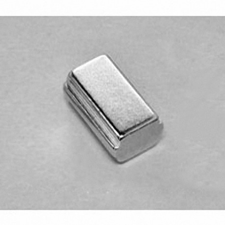 """SB6C4-OUT Neodymium Block Magnet, 3/8"""" length x 3/4"""" width x 1/4"""" thick , with step OUT"""