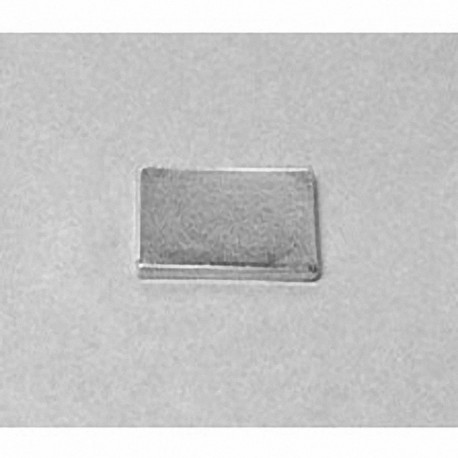 """BC81 Neodymium Block Magnet, 3/4"""" x 1/2"""" x 1/16"""" thick"""