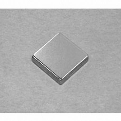 """BCC2-N52 Neodymium Block Magnet, 3/4"""" x 3/4"""" x 1/8"""" thick"""