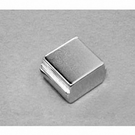 """SBCC6-OUT Neodymium Block Magnet, 3/4"""" length x 3/4"""" width x 3/8"""" thick , with step OUT"""