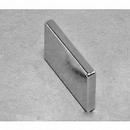 """BX028 Neodymium Block Magnet, 1"""" x 1/8"""" x 1/2"""" thick"""