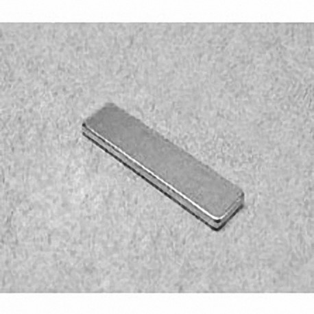 """BX041 Neodymium Block Magnet, 1"""" x 1/4"""" x 1/16"""" thick"""