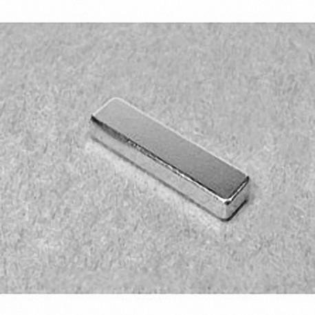 """BX042 Neodymium Block Magnet, 1"""" x 1/4"""" x 1/8"""" thick"""