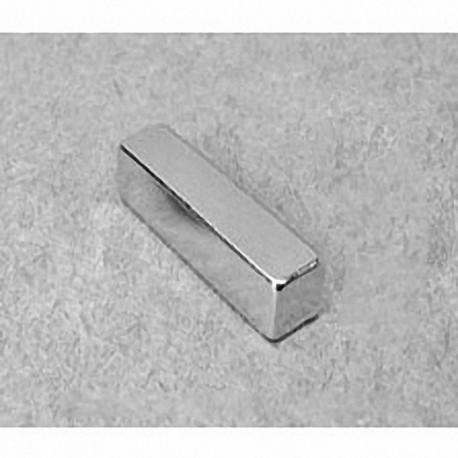 """BX044 Neodymium Block Magnet, 1"""" x 1/4"""" x 1/4"""" thick"""