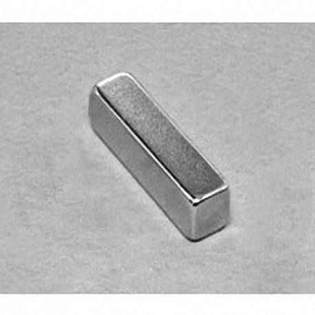 "BX044-N52 Neodymium Block Magnet, 1"" x 1/4"" x 1/4"" thick"