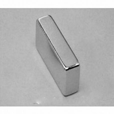 """BX048 Neodymium Block Magnet, 1"""" x 1/4"""" x 1/2"""" thick"""