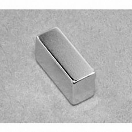 """BX066 Neodymium Block Magnet, 1"""" x 3/8"""" x 3/8"""" thick"""