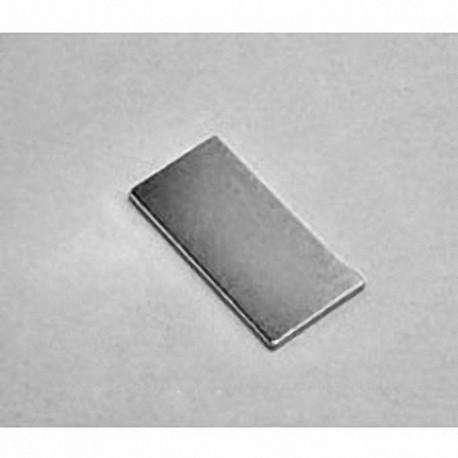 """BX0801 Neodymium Block Magnet, 1"""" x 1/2"""" x 1/32"""" thick"""