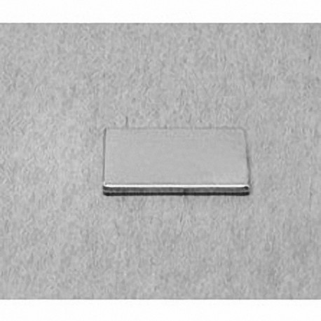 """BX081 Neodymium Block Magnet, 1"""" x 1/2"""" x 1/16"""" thick"""