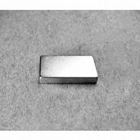 """BX082 Neodymium Block Magnet, 1"""" x 1/2"""" x 1/8"""" thick"""