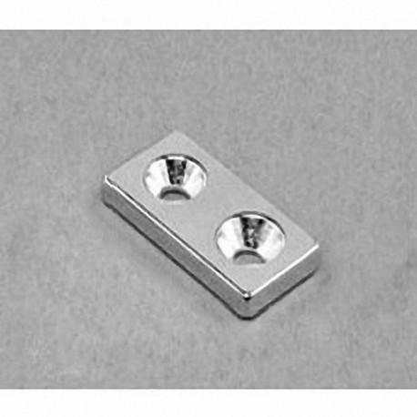 "BX082CS-N Neodymium Block Magnet, 1"" x 1/2"" x 1/8"" thick"