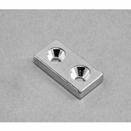 """BX082CS-S Neodymium Block Magnet, 1"""" x 1/2"""" x 1/8"""" thick"""