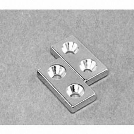 """BX082CS-P Neodymium Block Magnet, 1"""" x 1/2"""" x 1/8"""" thick"""