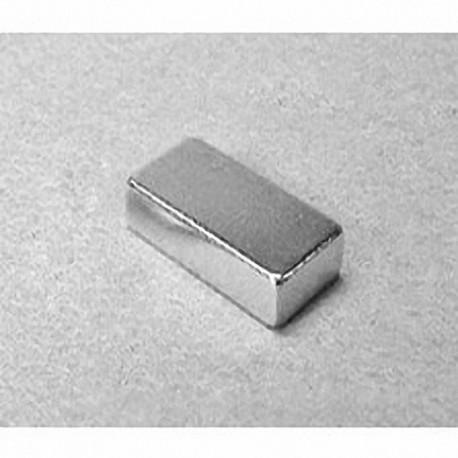 """BX084 Neodymium Block Magnet, 1"""" x 1/2"""" x 1/4"""" thick"""