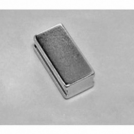 """SB8X04-IN Neodymium Block Magnet, 1/2"""" length x 1"""" width x 1/4"""" thick , with step IN"""