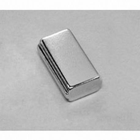 "SB8X04-OUT-N52 Neodymium Block Magnet, 1"" x 1/2"" x 1/4"" thick"