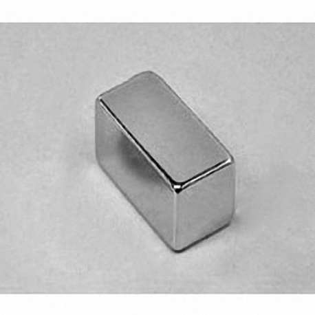 "BX088DCS Neodymium Block Magnet, 1"" x 1/2"" x 1/2"" thick w/ countersunk holes to accept 6 screws"