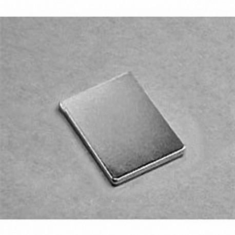 """BX0C1 Neodymium Block Magnet, 1"""" x 3/4"""" x 1/8"""" thick"""