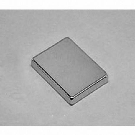 """BX0C2 Neodymium Block Magnet, 1"""" x 3/4"""" x 1/4"""" thick"""