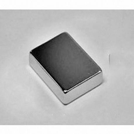 """BX0C4-N52 Neodymium Block Magnet, 1"""" x 3/4"""" x 1/2"""" thick"""