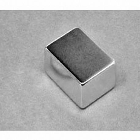 """BX0C8-N52 Neodymium Block Magnet, 1"""" x 3/4"""" x 3/4"""" thick"""