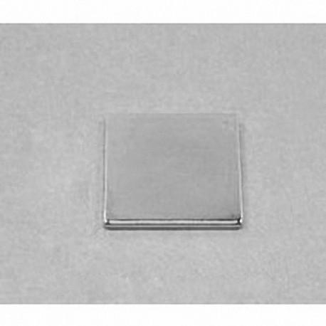 """BX0X01 Neodymium Block Magnet, 1"""" x 1"""" x 1/8"""" thick"""