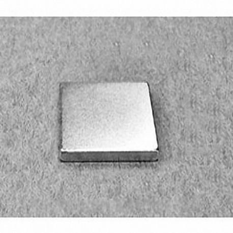 "BX0X02-N52 Neodymium Block Magnet, 1"" x 1"" x 1/8"" thick"