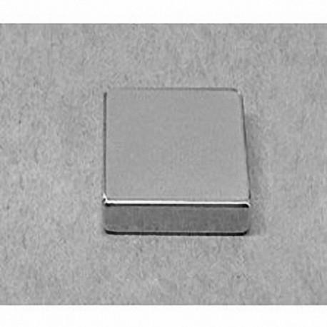 """BX0X04 Neodymium Block Magnet, 1"""" x 1"""" x 3/8"""" thick"""