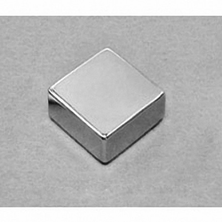 "BX0X06-N52 Neodymium Block Magnet, 1"" x 1"" x 3/8"" thick"