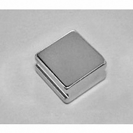 """SBX0X06-IN Neodymium Block Magnet, 1"""" length x 1"""" width x 3/8"""" thick , with step OUT"""