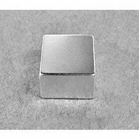 "BX0X08-N52 Neodymium Block Magnet, 1"" x 1"" x 1/2"" thick"