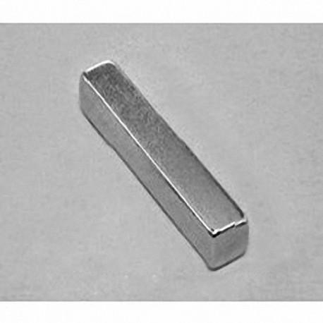 """BX844 Neodymium Block Magnet, 1 1/2"""" x 1/2"""" x 1/16"""" thick"""