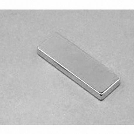 """BX882 Neodymium Block Magnet, 1 1/2"""" x 1/2"""" x 1/8"""" thick"""