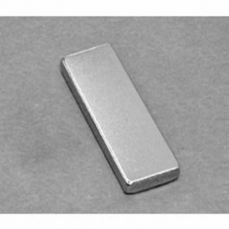 "BX882-N52 Neodymium Block Magnet, 1 1/2"" x 1/2"" x 1/4"" thick"