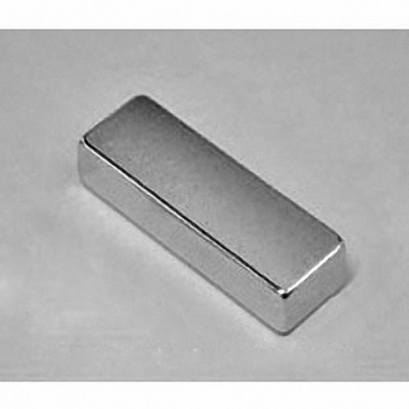 "BX884 Neodymium Block Magnet, 1 1/2"" x 1/2"" x 1/4"" thick w/ holes to accept 6 screws"