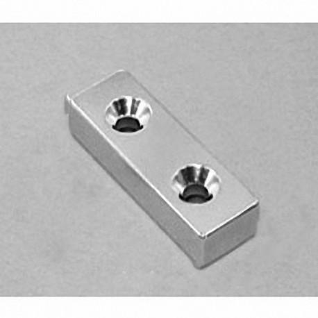 "BX884DCS Neodymium Block Magnet, 1 1/2"" x 1/2"" x 1/2"" thick"
