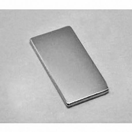 """BX8C1 Neodymium Block Magnet, 1 1/2"""" x 3/4"""" x 1/8"""" thick"""