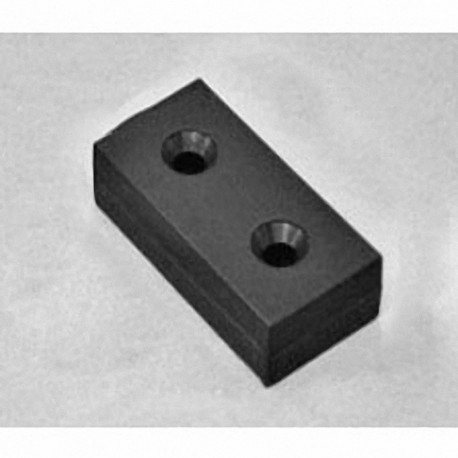 """BX8C6DCSPC-BLK Neodymium Block Magnet, 3/4"""" length x 1 1/2"""" width x 3/8"""" thick , with step IN"""