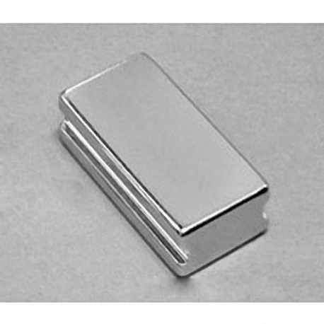 """SBCX86-IN Neodymium Block Magnet, 3/4"""" length x 1 1/2"""" width x 3/8"""" thick , with step OUT"""